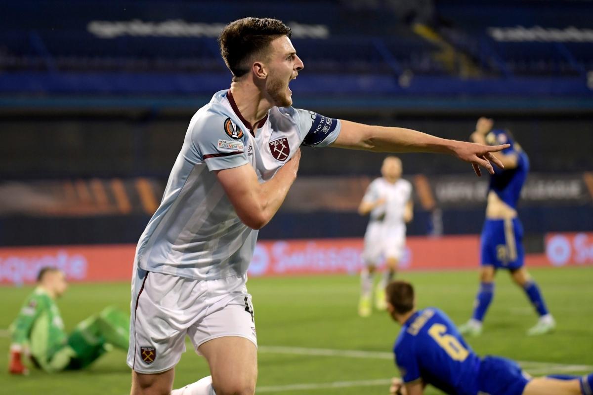 Declan Rice anota en un encuentro histórico mientras el West Ham muestra al  Tottenham cómo va en la Europa League con la victoria del Dinamo Zagreb -  Que De Futbol